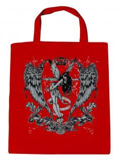 (U10898)Umweltfreundliche Baumwoll - Tasche , ca. 28 x 43 cm mit Aufdruck in 7 Farben rot