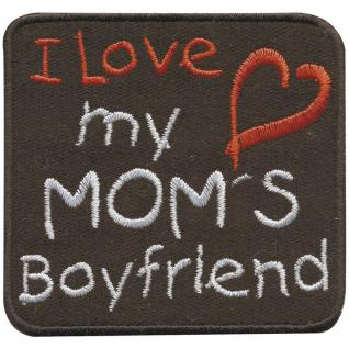 Aufnäher - I love my Mom`s - 01840 - Gr. ca. 6, 5 x 6, 5 cm - Patches Stick Applikation