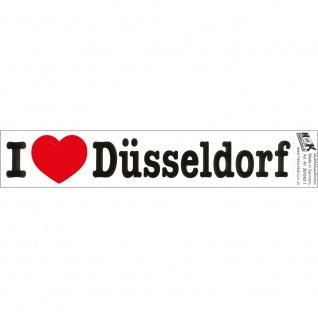 PVC-Aufkleber - I love Düsseldorf - Gr. ca. 18 x 3, 5 cm - 301562/1
