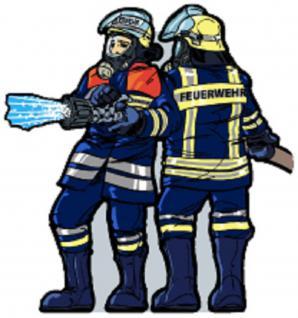 """Anstecknadel """" Feuerwehr"""" Größe ca. 1, 7 x 1, 8 cm 02875"""