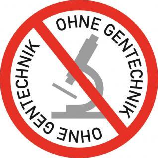 PVC Aufkleber - Ohne Gentechnik... - 303126-1 - Gr. ca. 8 cm - konturengeschnitten