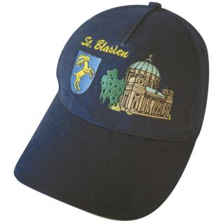 Baseballcap mit Stick - ST. BLASIEN - 68844 blau - Cap Kappe Baumwollcap