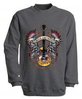 Sweatshirt mit Print - Rock´n Roll - S10242 - versch. farben zur Wahl - Gr. Navy / XXL