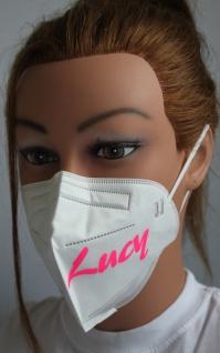 1x FFP2 Maske Deutsche Herstellung CE2797 zertifiziert mit Aufdruck - Ihr Wunschname