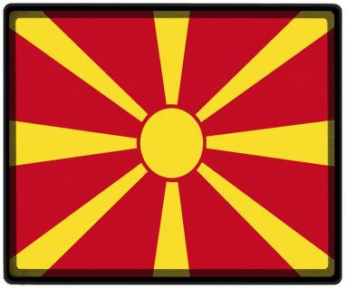 Mousepad Mauspad mit Motiv - Mazedonien Fahne Fußball Fußballschuhe - 82106 - Gr. ca. 24 x 20 cm
