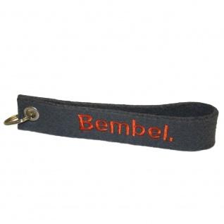 Filz-Schlüsselanhänger mit Stick BEMBEL Gr. ca. 17x3cm 14027 Keyholder grau