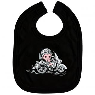 Babylätzchen mit Print - Biker Junge Boy - 07000 schwarz