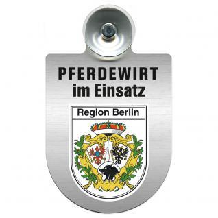 Einsatzschild Windschutzscheibe incl. Saugnapf - Pferdewirt im Einsatz - 309386-14 - Region Berlin