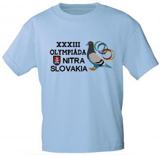 """Kinder - T- Shirt, Markenware, mit Einstickung """" XXXIII Tauben- Olympiade"""" Gr. 80- 152 NEU TB169 110/116"""
