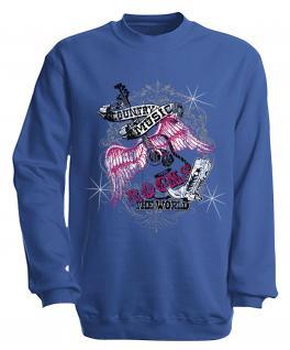 Sweatshirt mit Print - Country Music - S10247 - versch. farben zur Wahl - Gr. Royal / XXL