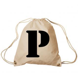 """Trend-Bag Turnbeutel Sporttasche Rucksack mit Print """" P"""" 65091-P"""
