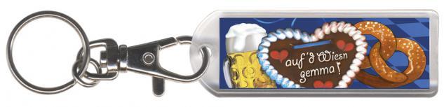 Schlüsselanhänger mit Karabiner - Oktoberfest - Gr. ca. 60x40mm - 03428