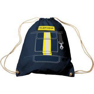 Turnbeutel mit Aufdruck - Feuerwehr - 65065 - Sporttasche Rucksack Trend-Bag