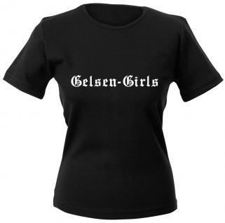 Girly-Shirt mit Print ? Gelsen-Girls - 12324 schwarz - XS-2XL