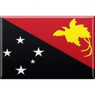 Kühlschrankmagnet - Länderflagge Papua-Neuguinea - Gr.ca. 8x5, 5 cm - 37803 - Magnet Küchenmagnet