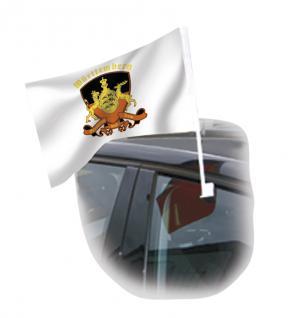 Autoscheibenfahne - Wappen Württemberg - Gr. ca. 40x30 cm - 07572 - Fanflagge mit Autoscheibenhalterung