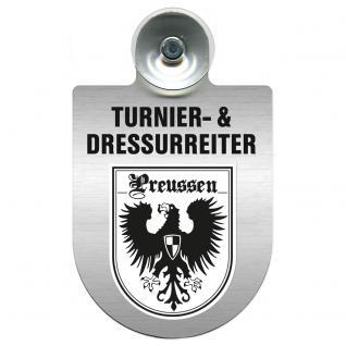 Einsatzschild Windschutzscheibe incl. Saugnapf - Turnier- und Dressurreiter im Einsatz - 309471-19 Region Preussen
