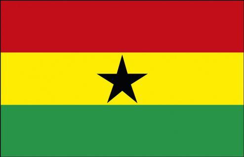 Autofahne - Ghana - Gr. ca. 40x30cm - 78054 - Flagge mit Klemmstab - Autoländerfahne
