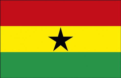 Stockländerfahne - Ghana - Gr. ca. 40x30cm - 77054 - Schwenkfahne Länder Flagge