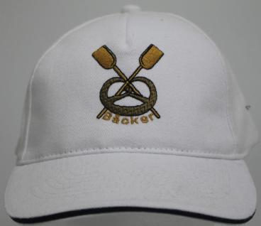 Baumwollcap mit Bestickung - Zunft Bäcker - 68611 weiss - Baumwollcap Baseballcap Cappy Kappe