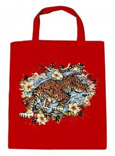 (U10973)Umweltfreundliche Baumwoll - Tasche , ca. 28 x 43 cm mit Aufdruck in 7 Farben rot