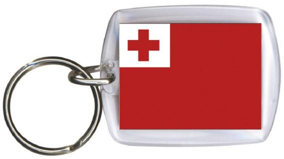 Schlüsselanhänger - TONGA - Gr. ca. 4x5cm - 81169 - Keyholder WM Länder