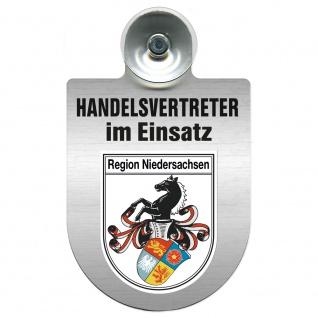 Einsatzschild Windschutzscheibe incl. Saugnapf - Handelsvertreter im Einsatz - 309367 Region Niedersachsen