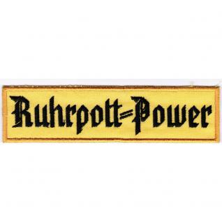 AUFNÄHER - Aufbügler - Dortmund Ruhrpottpower - 20611 - Gr. ca. 12, 7 x 3, 2 cm - Patches Stick Applikation