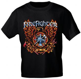 T-Shirt mit Print - Feuerwehr - 10592 - versch. Farben zur Wahl - Gr. schwarz / XL