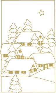 """Wandtattoo/ Dekorfolie mit Motiv """" Winter-Dorf"""" Ø 90cm Länge max.100 cm, in 11 Farben WD0808 gold"""