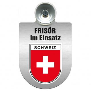 Einsatzschild Windschutzscheibe incl. Saugnapf - Frisör im Einsatz - 393815 - Region Schweiz