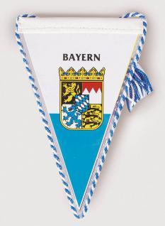 Miniwimpel Wimpel 10 cm Banner Auto Fahne - Bayern - 07716