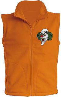 (11536) Karneval Fleece-Weste mit Brust- und Rückenstick, Gr. S- XXL in 4 Farben S / Orange