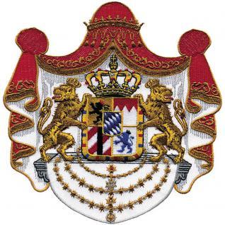 Rückenaufnäher - Heraldik - Freistaat Bayern - 07334 - Gr. ca. 18x18, 5 cm - Patches Stick Applikation