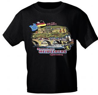 T-Shirt - Souvenir City Line HEIDELBERG - 09611 - Gr. L