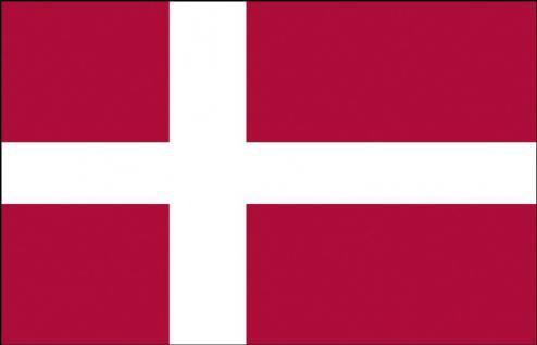 Auto-Flagge - Dänemark - Gr. ca. 40x30cm - 78039 - Flagge mit Klemmstab, Autoländerfahne
