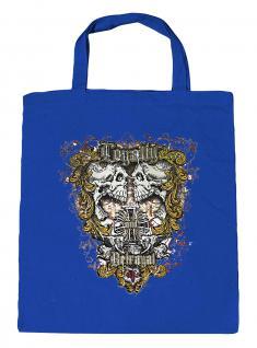 (U10834)Umweltfreundliche Baumwoll - Tasche , ca. 28 x 43 cm mit Aufdruck in 7 Farben blau