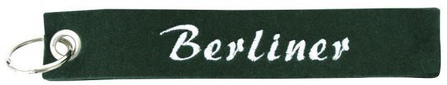 Filz-Schlüsselanhänger mit Stick Berliner Gr. ca. 17x3cm 14203 schwarz