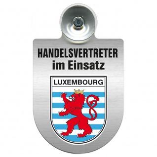 Einsatzschild Windschutzscheibe incl. Saugnapf - Handelsvertreter im Einsatz - 309367 Region Luxembourg