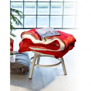 Kuscheldecke Dekodecke Antipilling Decke rot/weiß 30211