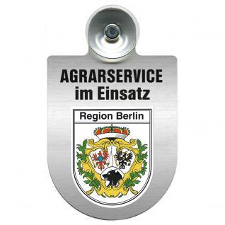 Einsatzschild für Windschutzscheibe incl. Saugnapf - Agrarservice im Einsatz - 309739-14 Region Berlin