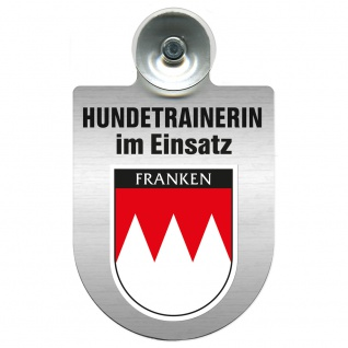 Einsatzschild mit Saugnapf Hundetrainerin im Einsatz 309379/1 Region Franken