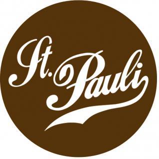 (03740) Button zum Anstecken ? St. Pauli ? Gr. ca. 2, 5 cm Anstecknadel