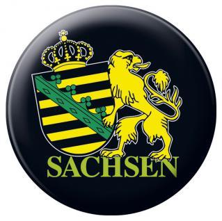 Emblem Abzeichen Button Magnetbutton mit Druck - SACHSEN Emblem - 16233 - Küchenmagnet