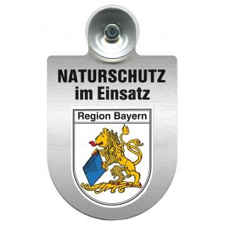 Einsatzschild Windschutzscheibe incl. Saugnapf - Naturschutz im Einsatz - 393826 - Region Bayern