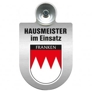 Einsatzschild Windschutzscheibe incl. Saugnapf - Hausmeister im Einsatz - 309393 - Region Franken
