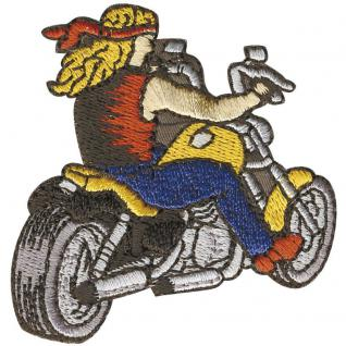Aufnäher - Bike Motorrad Chopper - 04709 - Gr. ca. 5, 5 x 5, 5 cm - Patches Stick Application
