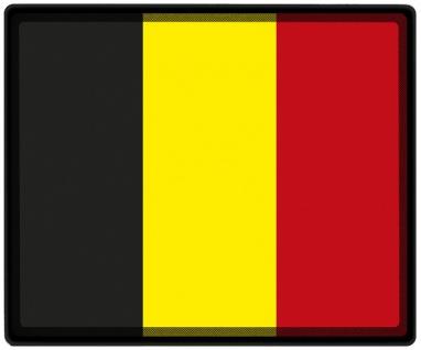 Mousepad Mauspad mit Motiv - Belgien Fahne - 82023 - Gr. ca. 24 x 20 cm