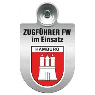 Einsatzschild Windschutzscheibe incl. Saugnapf - Zugführer Feuerwehr im Einsatz - 309749 - Region Hamburg