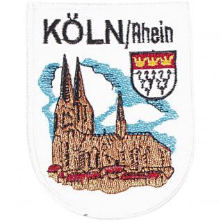 AUFNÄHER - Wappen - Köln - Rhein - 04007 - Gr. ca. 4 x 9 cm - Patches Stick Applikation
